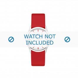 Cinturino per orologio Danish Design IV24Q1103 Pelle Rosso 16mm