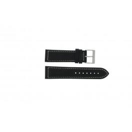 Cinturino per orologio Davis BB0450 / BB0454 Pelle Nero 24mm