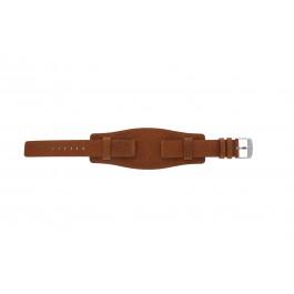 Cinturino per orologio Universale B0222 Pelle Marrone 20mm