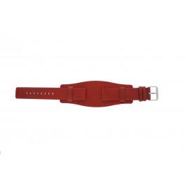 Cinturino per orologio Universale B0223 Pelle Rosso 20mm