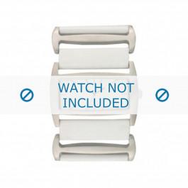 Cinturino per orologio Davis BB0755 Pelle Bianco 36mm