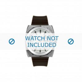 Diesel cinturino dell'orologio DZ1249 Silicone Marrone 28mm