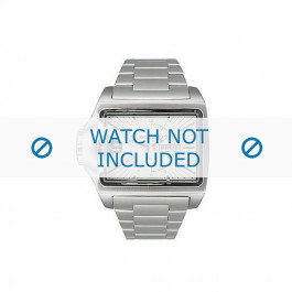 Diesel cinturino dell'orologio DZ1315 Acciaio inossidabile Argento 29mm