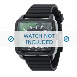 Diesel cinturino dell'orologio DZ1325 Silicone Nero 29mm