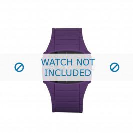 Diesel cinturino dell'orologio DZ1385 Silicone Viola 28mm