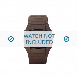 Diesel cinturino dell'orologio DZ1386 Gomma / plastica Marrone 28mm