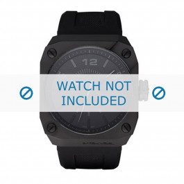 Cinturino per orologio Diesel DZ1433 Silicone Nero 30mm