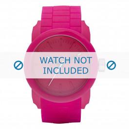 Diesel cinturino dell'orologio DZ1439 Silicone Rosa 24mm
