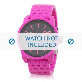 Diesel cinturino dell'orologio DZ1524 Plastica Rosa 24mm