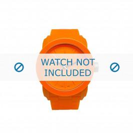 Diesel cinturino dell'orologio DZ1534 Silicone Arancione 24mm