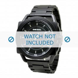 Diesel cinturino dell'orologio DZ1580 Acciaio inossidabile Nero 24mm