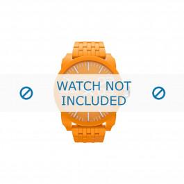 Diesel cinturino dell'orologio DZ1581 Plastica Arancione 28mm