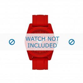 Diesel cinturino dell'orologio DZ1589 Silicone Rosso 24mm