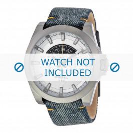Cinturino per orologio Diesel DZ1689 Pelle/Tessuto Jeans 24mm