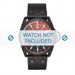Cinturino per orologio Diesel DZ1793 Pelle Nero 24mm
