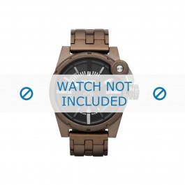 Diesel cinturino dell'orologio DZ4236 Acciaio inossidabile Marrone 24mm