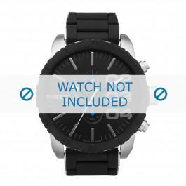 Diesel cinturino dell'orologio DZ4255 Silicone Nero 26mm