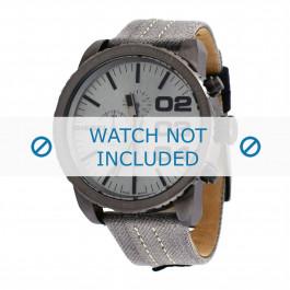 Diesel cinturino dell'orologio DZ4285 Tessuto Grigio 26mm + cuciture grigio