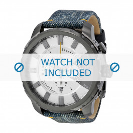 Cinturino per orologio Diesel DZ4345 Pelle/Tessuto Jeans 26mm