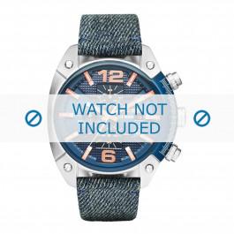 Diesel cinturino dell'orologio DZ4374 Tessuto Blu 24mm + cuciture nero