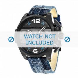 Diesel cinturino dell'orologio DZ4397 Tessuto Blu 24mm + cuciture bianco