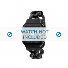 Diesel cinturino dell'orologio DZ5181 Metallo Nero 23mm