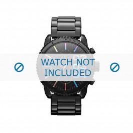 Diesel cinturino dell'orologio DZ5340 Acciaio inossidabile Nero 22mm