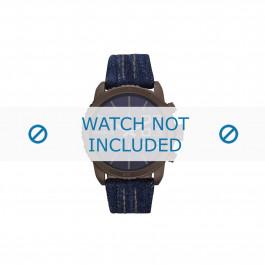 Diesel cinturino dell'orologio DZ5354 Pelle Blu 22mm + cuciture marrone