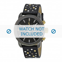 Diesel cinturino dell'orologio DZ5432 Pelle Nero 20mm