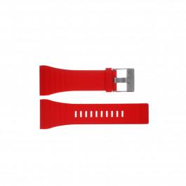Diesel cinturino dell'orologio DZ7198 Silicone Rosso 30mm