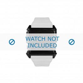 Diesel cinturino dell'orologio DZ7201 Silicone Bianco 30mm