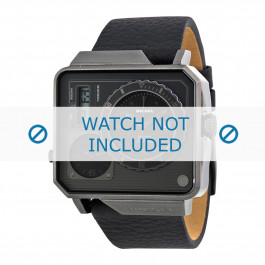 Diesel cinturino dell'orologio DZ7241 Pelle Nero 28mm