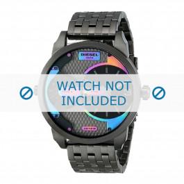 Diesel cinturino dell'orologio DZ7319 Acciaio inossidabile Grigio 22mm