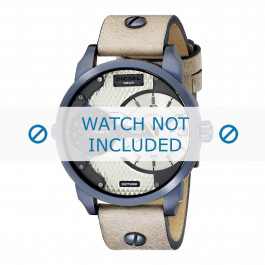 Diesel cinturino dell'orologio DZ7338 Pelle Bianco crema / Beige 22mm