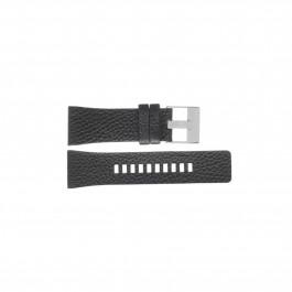 Diesel cinturino dell'orologio DZ7376 Pelle Nero 28mm