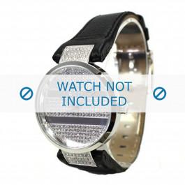 DKNY cinturino dell'orologio NY4976 Cuoio morbido Nero + cuciture nero