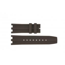 Cinturino per orologio Dolce & Gabbana DW0764 / F360006010 Gomma Marrone 27mm