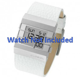 Cinturino per orologio Diesel DZ7087 Pelle Bianco 36mm