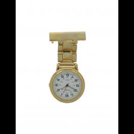 E968 orologio per infermiera per unisex Acciaio Oro (Placcato)