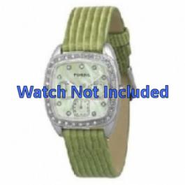 Cinturino per orologio Fossil ES1010 Pelle Verde 18mm