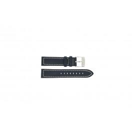 Festina cinturino dell'orologio F16169-2 / F16170 Pelle Blu 21mm + cuciture bianco