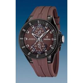 Cinturino per orologio Festina F16612-2 / F16611-2 Gomma Marrone 18mm
