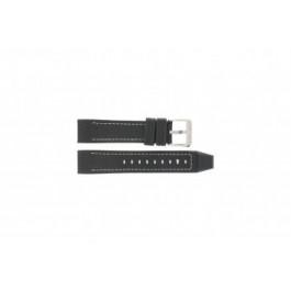 Festina cinturino orologio F16183/40 Pelle Nero 22mm + cuciture bianco