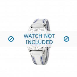 Festina cinturino dell'orologio F16274.1 Gomma / plastica Bianco 18mm + cuciture blu