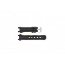 Festina cinturino orologio F16350/4 Gomma Nero 23mm + cuciture giallo