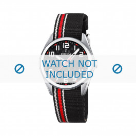 Festina cinturino dell'orologio F16904-3 Nylon / perlon Rosso 16mm