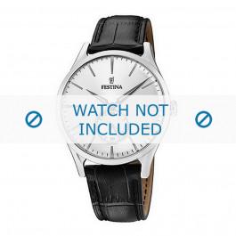 Cinturino per orologio Festina F16979-1 Pelle di coccodrillo Nero 20mm