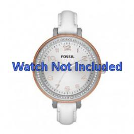 Cinturino per orologio Fossil AM4362 Pelle Bianco 16mm