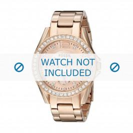 Cinturino per orologio Fossil ES2811 / 25XXXX Acciaio Vino rosé 18mm