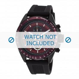 Fossil cinturino dell'orologio CH2876 Gomma / plastica Nero